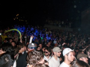 Glitch Mob crowd- notice the Fun Noodle