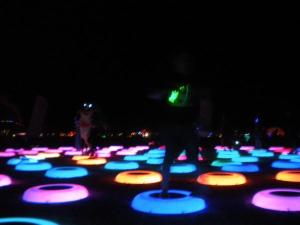 jumping circles of light!