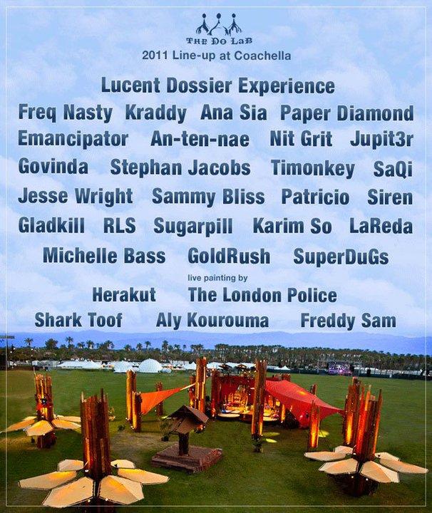 Lineup at Coachella 2011 2011